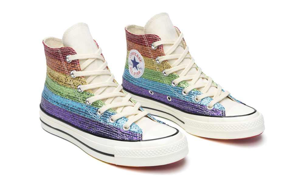 a58b8866edf6 ... on converse.ca and at select retailers across the country. Take a  closer look at the selection of rainbow-bright Chuck Taylor All Star  sneakers below.