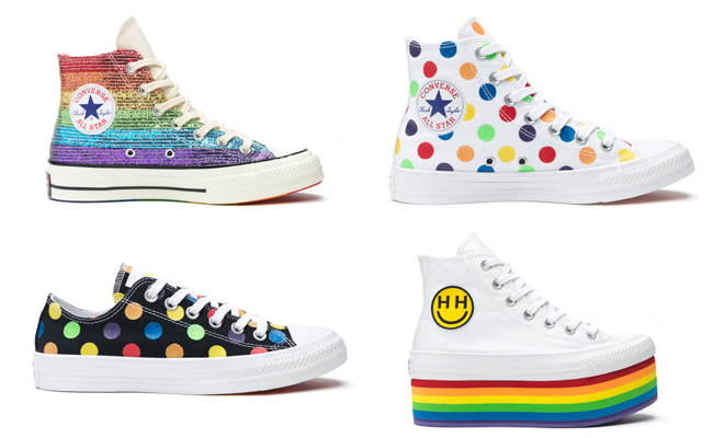 Converse has partnered with LGBTQ activist Miley Cyrus for its annual Pride  collection. This summer 5285e91e9